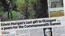 The Sunday Herald: Edwin Morgan's last gift to Glasgow … a poem for the Commonwealth Games